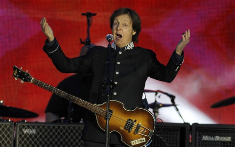 Paul McCartney Left handed guitarist