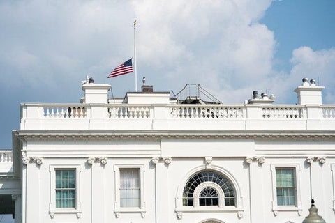 John McCain Flags Lowered at White House