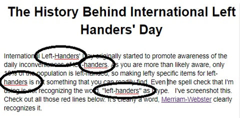 Left Handers Definition | Lefties Only