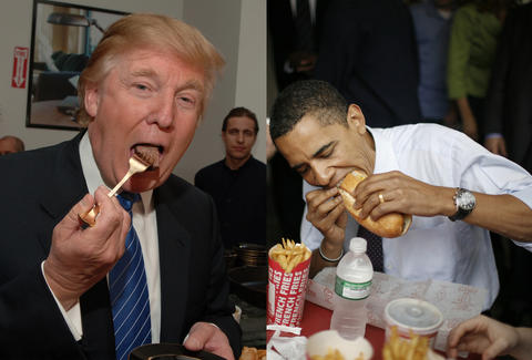 Donald Trump | Right Handed Eating | Barack Obama left handed eating
