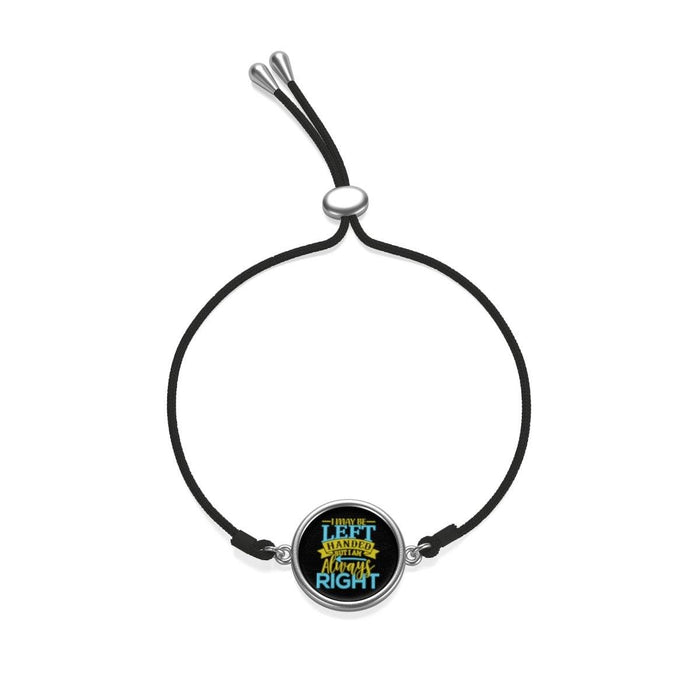 Accessories - I May Be Left Handed But I Am Always Right Coin Cord Bracelet