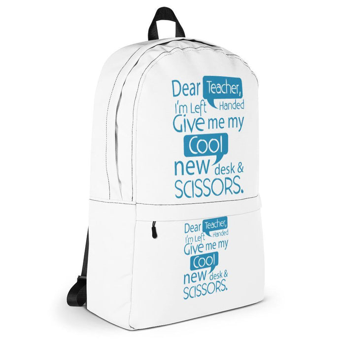 Dear Teacher, I'm Left Handed Kids/Youth Backpack