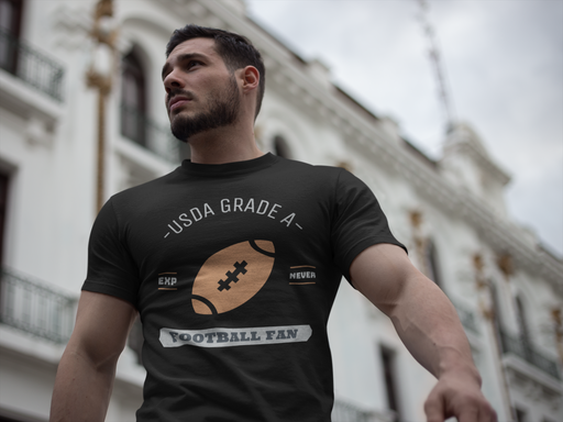 USDA Grade A Football Fan Short-Sleeve Unisex T-Shirt