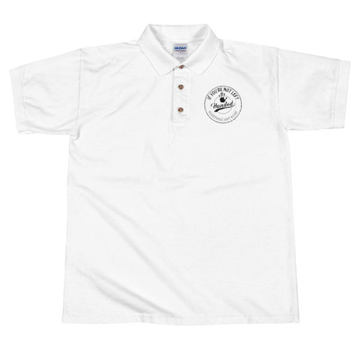 If You're Not Left Handed Something Isn't Right Men's Polo Shirt | Left Chest Embroidery | White
