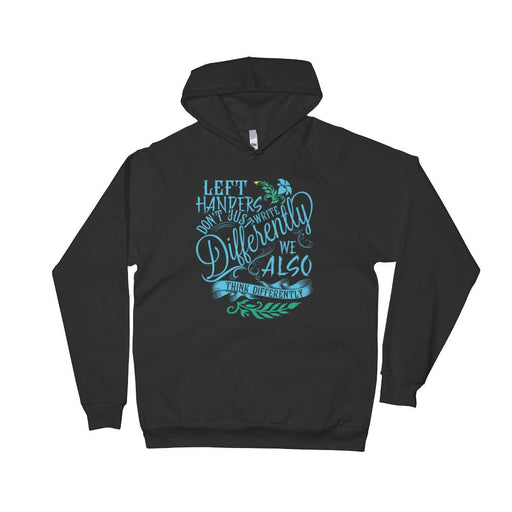 Left Handers Think Differently Unisex Fleece Hoodie