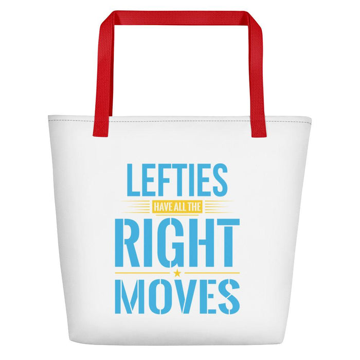Lefties Have All The Right Moves Beach Bag