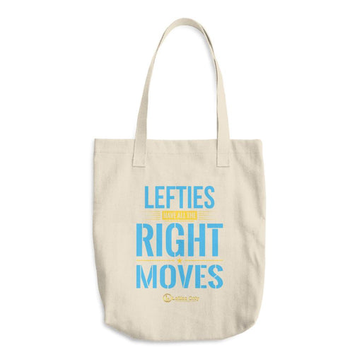 Lefties Have All The Right Moves Cotton Tote Bag