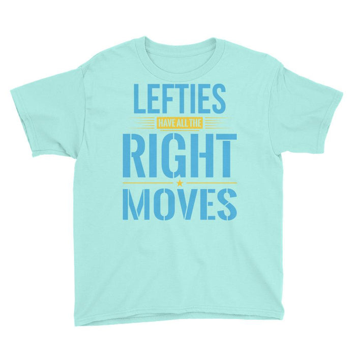 Lefties Have All The Right Moves Kids/Youth Short Sleeve T-Shirt