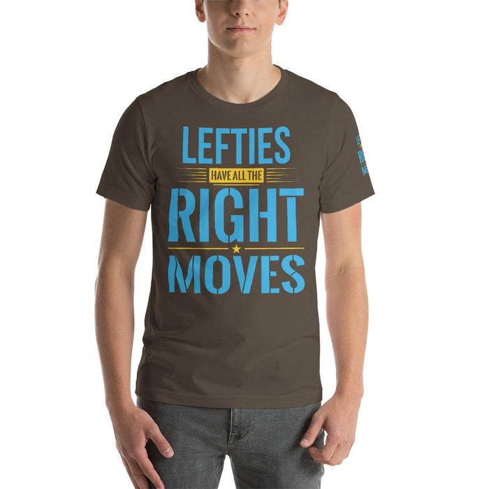 Lefties Have All The Right Moves Short-Sleeve Unisex T-Shirt | Branded Left Sleeve