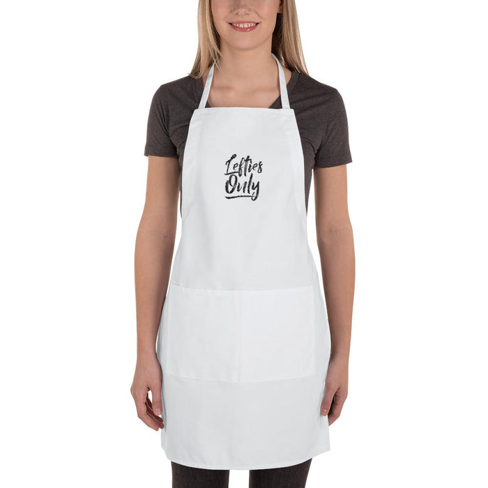 Lefties Only Embroidered Apron | White