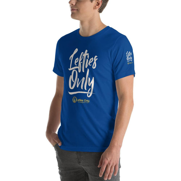 Lefties Only Short-Sleeve Unisex T-Shirt | Branded Left Sleeve | Front Logo
