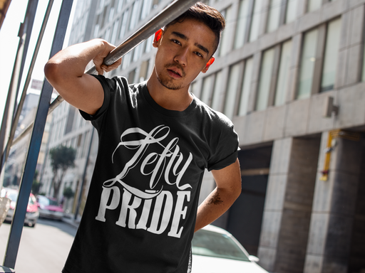 Lefty Pride Short Sleeve Unisex T-Shirt | Branded on Left Sleeve