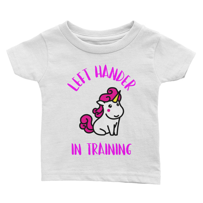 Left Hander In Training Infant Girl's Tee