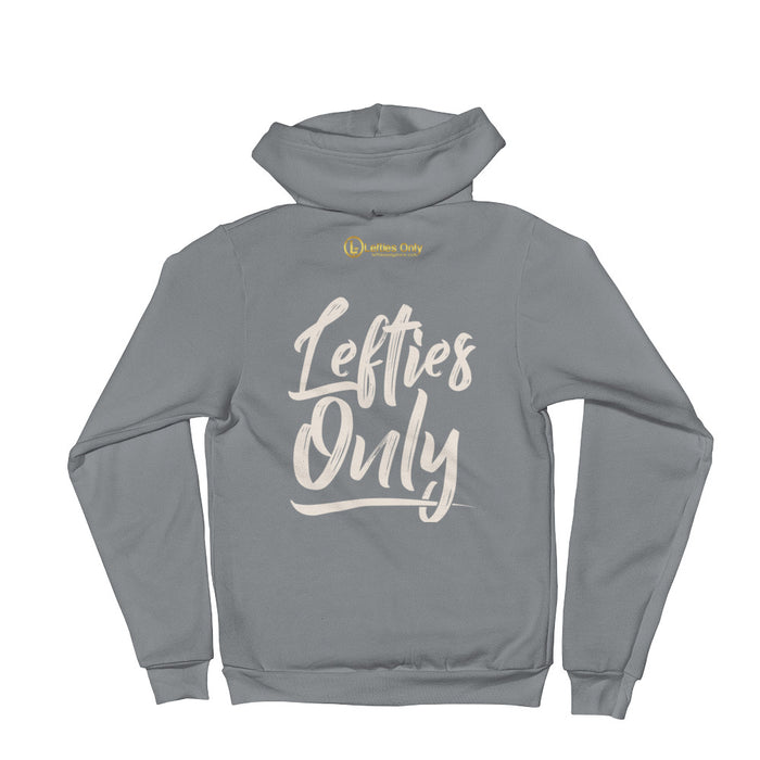 Lefties Only Hoodie Zipped Unisex Sweater | Lefties Only on Back