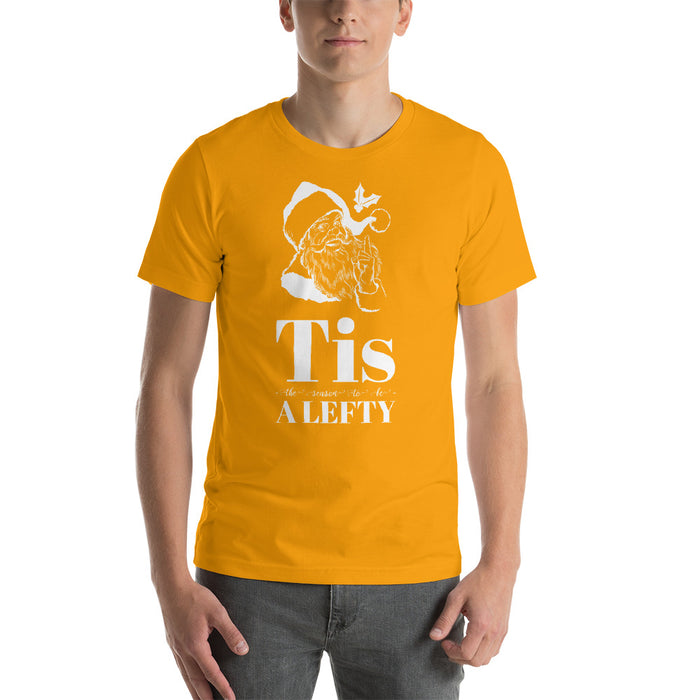 Tis The Season To Be A Lefty Short-Sleeve Unisex Christmas T-Shirt