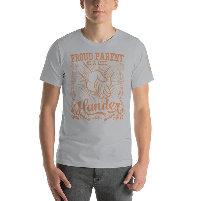 Proud Parent Of A Left Hander Short-Sleeve Unisex T-Shirt | Branded Left Sleeve