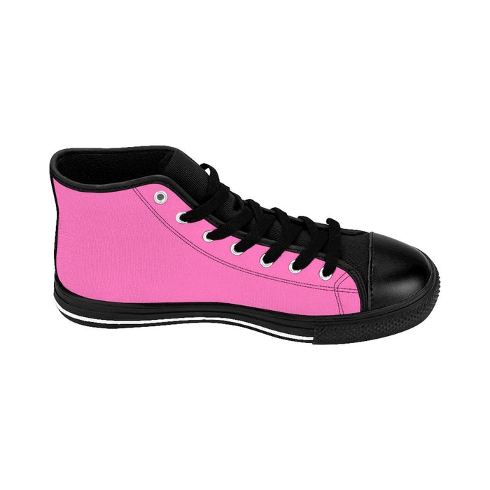 Shoes - I'm Left Handed What's Your Super Power Men's High-top Sneakers | Hot Pink