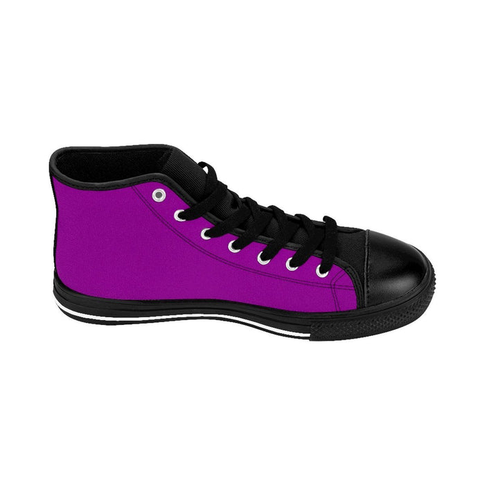 Shoes - I'm Left Handed What's Your Super Power Men's High-top Sneakers | Purple