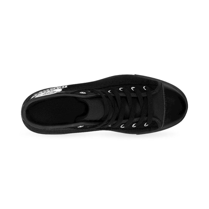 Shoes - I'm Left Handed What's Your Super Power Women's High-top Sneakers | Black