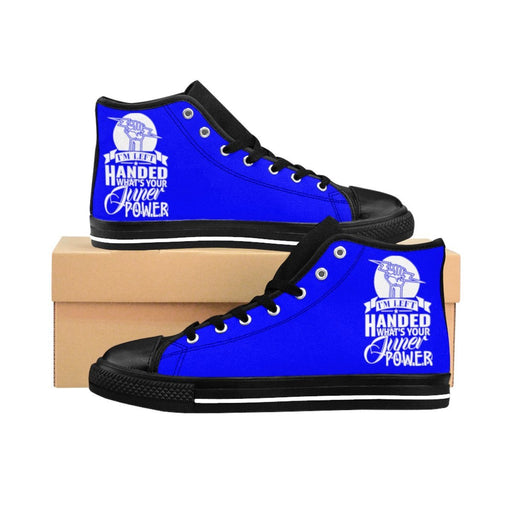 Shoes - I'm Left Handed What's Your Super Power Women's High-top Sneakers | Blue