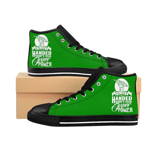 Shoes - I'm Left Handed What's Your Super Power Women's High-top Sneakers | Green