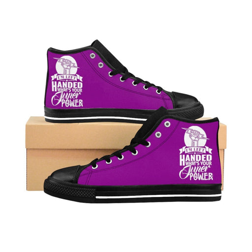 Shoes - I'm Left Handed What's Your Super Power Women's High-top Sneakers | Purple