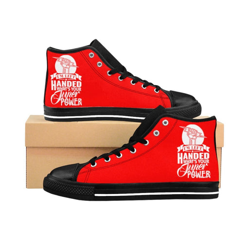 Shoes - I'm Left Handed What's Your Super Power Women's High-top Sneakers | Red