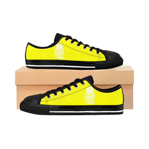 Shoes - I'm Left Handed What's Your Super Power Women's Sneakers | Yellow