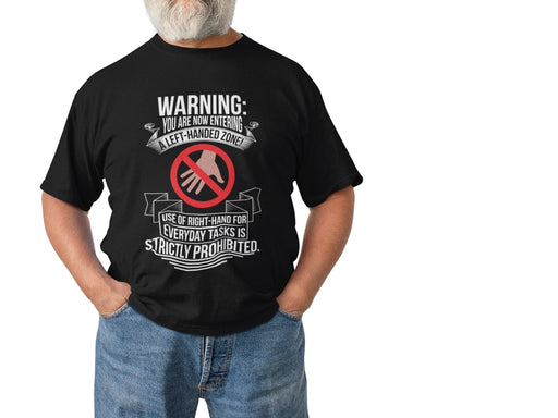 Warning You Are Now Entering A Left Handed Zone Short-Sleeve Unisex T-Shirt