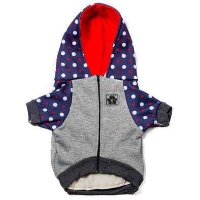 'Puppy Love' (Navy/Red) Hoodie
