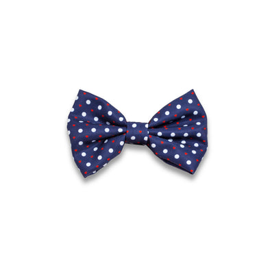 'Puppy Love' (Navy/Red) Bow tie