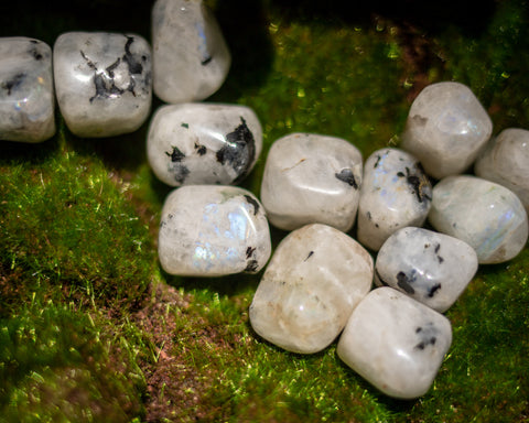 Rainbow Moonstone Tumbles for Lunar Connection - The Crystal Cavern