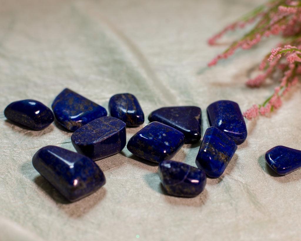Lapis tumbles for Timeless Wisdom and Truth - The Crystal Cavern