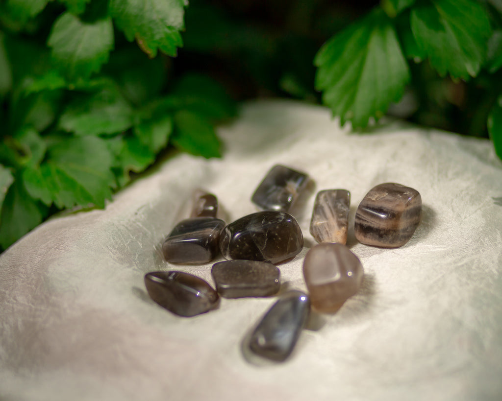 Black Moonstone Tumbles for New Moon Magick - The Crystal Cavern