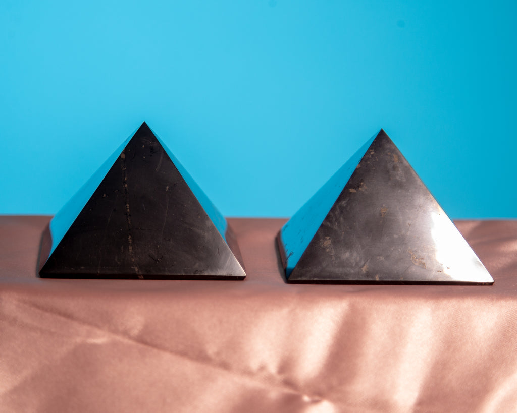 Shungite Pyramids for EMF Protection and Filtration - The Crystal Cavern