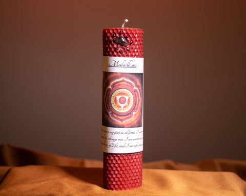 Muladhara Root Chakra Candle - The Crystal Cavern