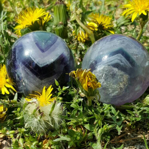 Fluorite Spheres - The Crystal Cavern