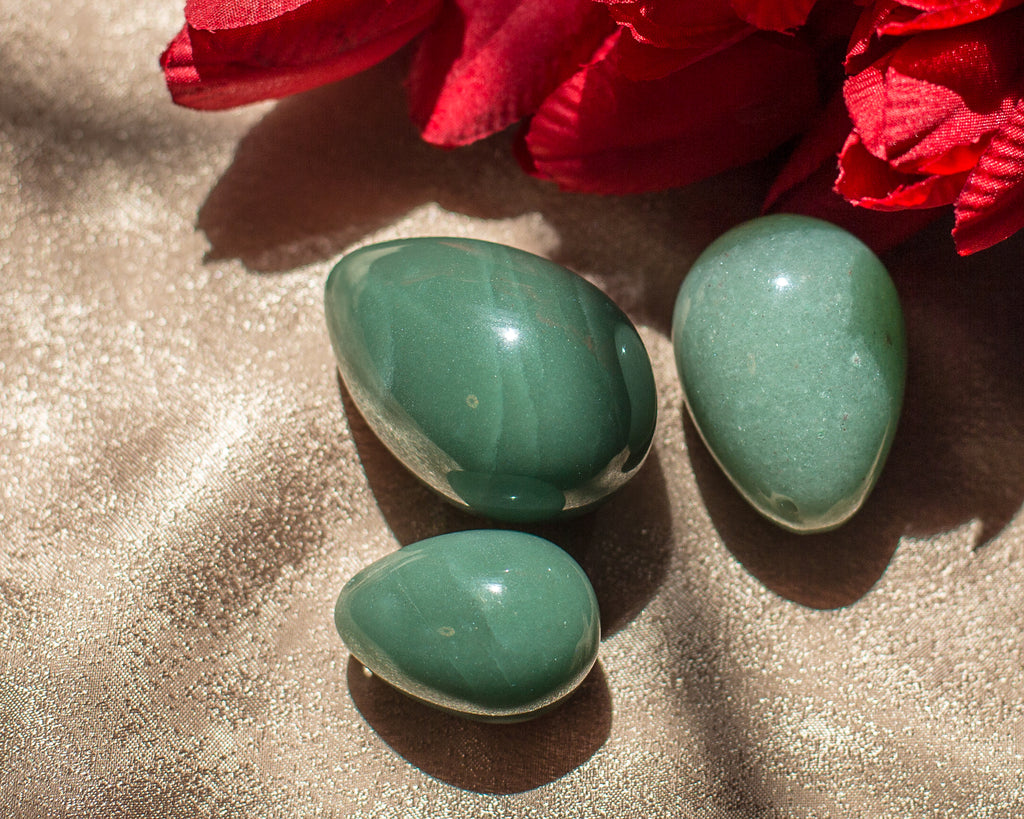Green Aventurine Yoni Eggs - The Crystal Cavern