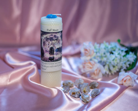 Full Moon Candle - The Crystal Cavern