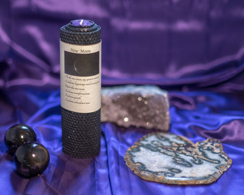 New Moon Candle - The Crystal Cavern