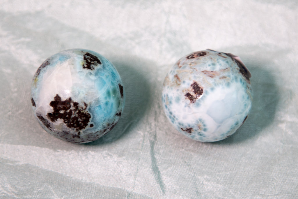 Larimar Spheres for Divine Feminine and Atlantean Connection - The Crystal Cavern