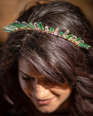 Green Fae Halo Crown - The Crystal Cavern