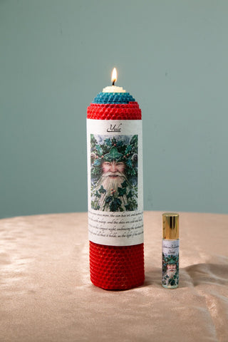 Yule Candle and Intention Oil - The Crystal Cavern