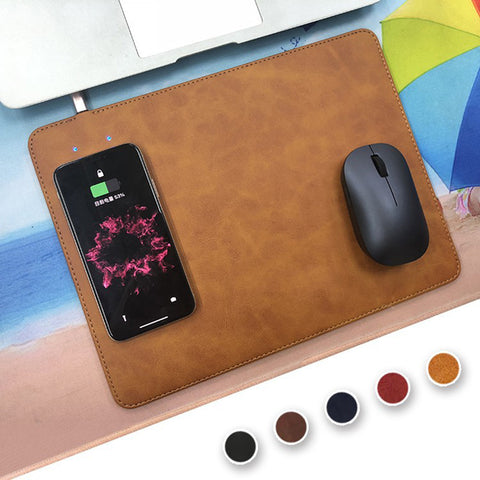 Wireless Charge Leather Mousepad