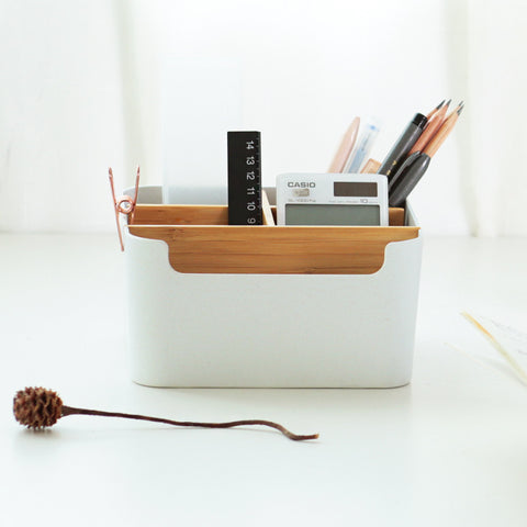 Desktop Bamboo Storage Grid