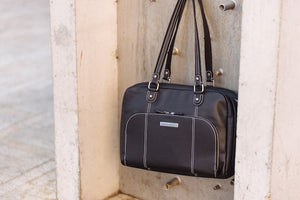INTRODUCING: THE MORRISON LAPTOP HANDBAG IN VEGAN LEATHER