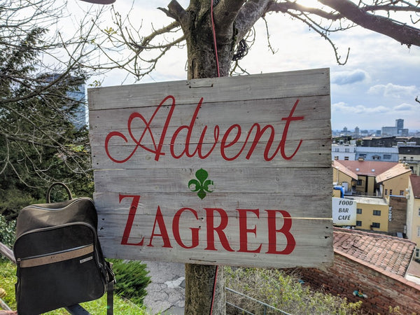 Advent Zagreb with backpack