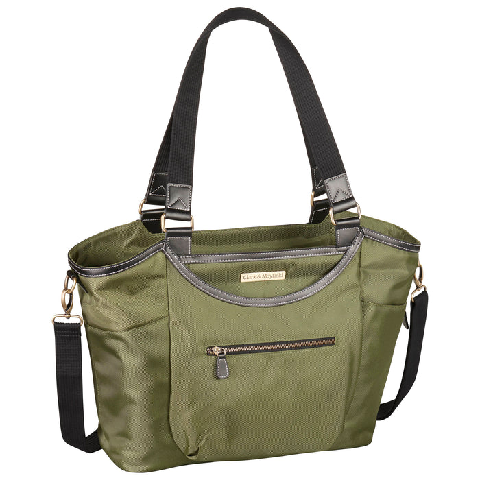 "18.4"" Bellevue Laptop Bag- Pesto Green"