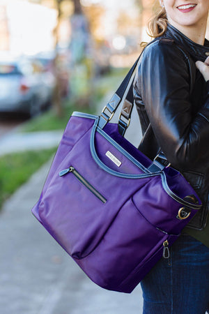 "18.4"" Bellevue Laptop Bag - Purple"