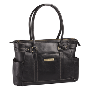 "17.3"" Hawthorne Leather Handbag - Black"
